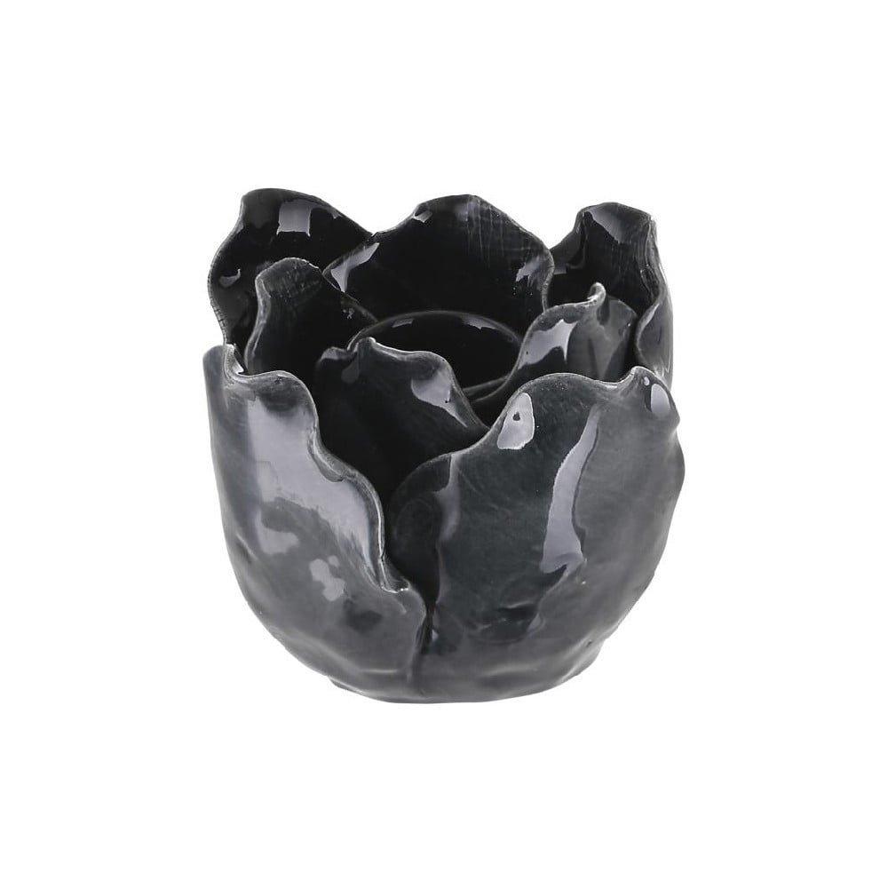 Čierny kameninový svietnik A Simple Mess Svir