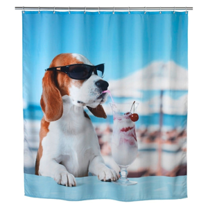 Sprchový záves Wenko Cool Dog, 180×200 cm