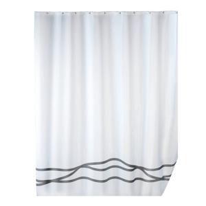 Biely sprchový záves s protiplesňovou povrchovou úpravou Wenko Noa, 180×200 cm