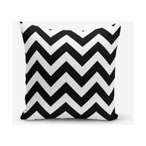 Čierno-biela obliečka na vankúš Minimalist Cushion Covers Stripes, 45×45 cm
