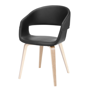 Čierna jedálenská stolička Interstil Nova Nature
