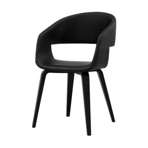 Čierna jedálenská stolička Interstil Nova