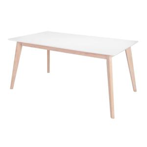 Biely jedálenský stôl s nohami z dubového dreva Interstil Century, dĺžka 160 cm