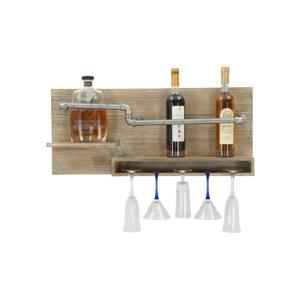 Nástenný držiak na fľašky a poháre Mauro Ferretti Pipe Bar, 30×70 cm