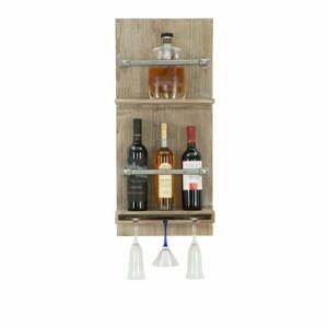 Nástenný držiak na fľašky a poháre Mauro Ferretti Bar, 76×34 cm