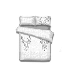 Flanelové posteľné obliečky AmeliaHome My Deer Friend, 140 x 200 cm
