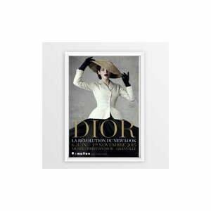 Plagát v ráme Piacenza Art Dior With Hat, 30 × 20 cm