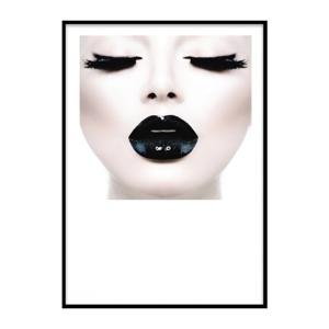 Plagát v ráme Piacenza Art Black Lady Head, 30 × 20 cm