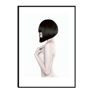 Plagát v ráme Piacenza Art Black Lady Body, 30 × 20 cm