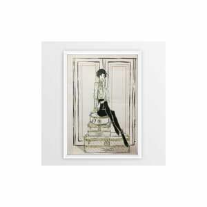Plagát v ráme Piacenza Art Chanel Suitcases, 30 × 20 cm