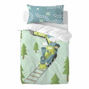 Detské obliečky z čistej bavlny Happynois Train, 115×145 cm