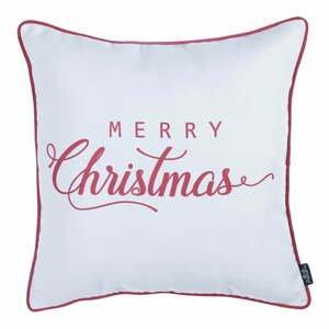 Bielo-červená vianočka obliečka na vankúš Apolena Honey Merry Christmas, 45×45 cm