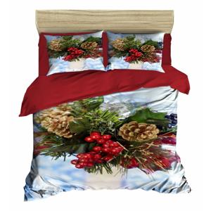 Vianočné obliečky na dvojlôžko s plachtou Mattia, 160×220 cm