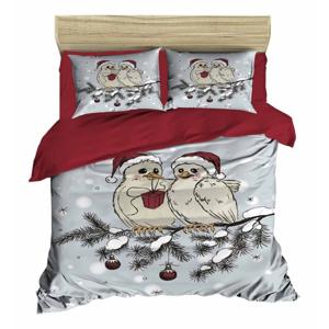Vianočné obliečky na dvojlôžko s plachtou Talia, 160×220 cm