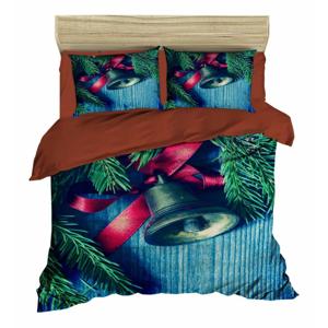 Vianočné obliečky na dvojlôžko s plachtou Ivan, 200×220 cm