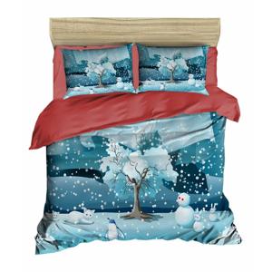 Vianočné obliečky na dvojlôžko s plachtou Fabio, 200×220 cm