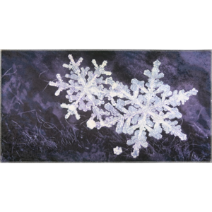 Koberec Vitaus Big Snowflakes, 50×80 cm