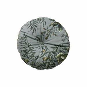 Sivý vankúš s motívom kvetín De Eekhoorn Vogue, Ø45cm