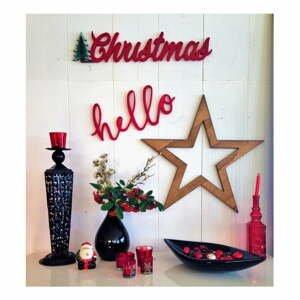 Vianočná nástenná dekorácia Christmas Star, 69 x 2 x 15 cm