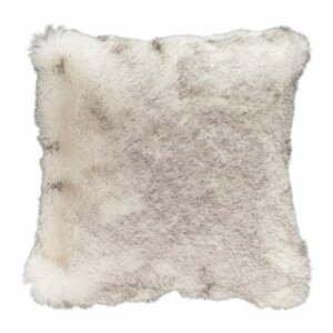 Hnedý vankúš z umelej kožušiny Mint Rugs Soft, 43×43 cm