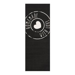 Čierny behúň Zala Living Homemade, 67 × 180 cm