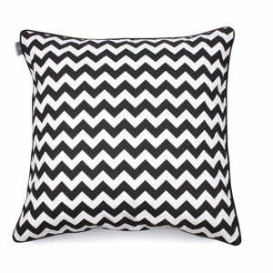 Čierno-biela obliečka na vankúš WeLoveBeds Zig Zag, 60 × 60 cm