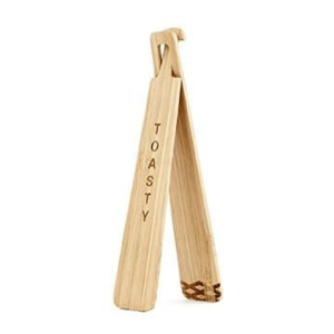 Bambusové klieštiky na toast Kikkerland Tongs