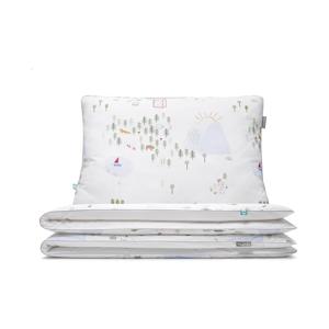Bavlnené obliečky na jednolôžko Mumla Maps, 140×200 cm