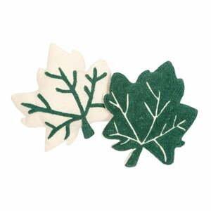Sada 2 zeleno-bielych vankúšov Nattiot Erable