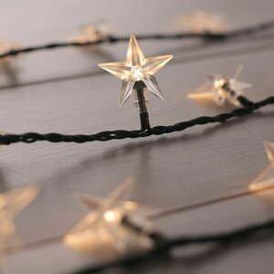 Čierna LED svetelná reťaz DecoKing Star, 100 svetielok, dĺžka 12,5 m