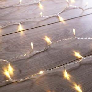 Transparentná LED svetelná reťaz DecoKing Christmas, 200 svetielok, dĺžka 1 m