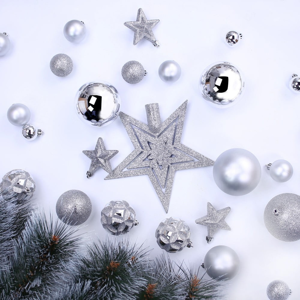 Sada 100 vianočných ozdôb DecoKing Star