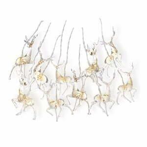 LED svietiaca reťaz v tvare sobov DecoKing Deer, 10 svetielok, dĺžka1,65m