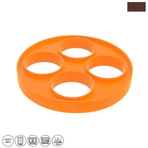 Oranžová silikónová forma na volské oko a lievance Orion