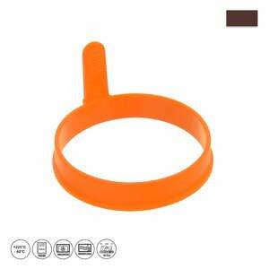 Oranžová silikónová forma na volské oko a lievance Orion Pancake, ⌀ 9,5 cm