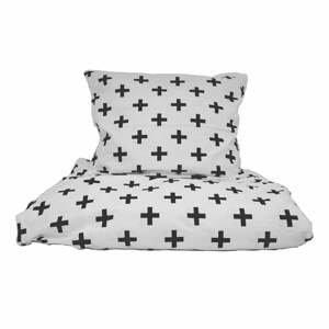 Bavlnené posteľné obliečky So Homely pluses, 140×200 cm