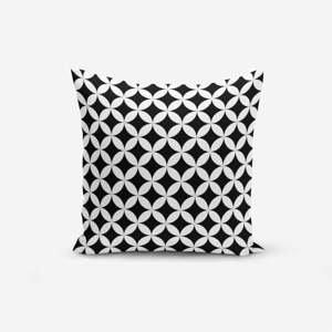 Čierno-biela obliečka na vankúš Minimalist Cushion Covers Black White Geometric, 45×45 cm