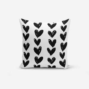 Obliečka na vankúš s prímesou bavlny Minimalist Cushion Covers Black Heart, 45×45 cm