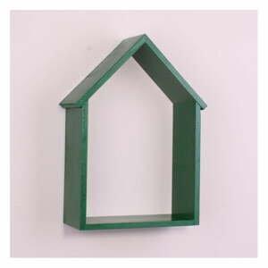 Zelená drevená nástenná polička North Carolina Scandinavian Home Decors House