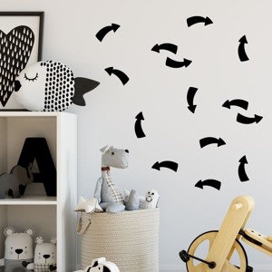Sada čiernych samolepiek na stenu North Carolina Scandinavian Home Decors Point