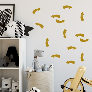 Sada žltých samolepiek na stenu North Carolina Scandinavian Home Decors Point