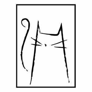 Plagát Piacenza Art Kitty, 33,5 x 23,5 cm
