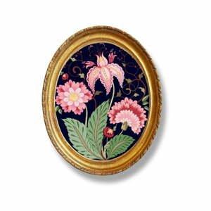 Oválný nástenný obraz Velvet Atelier Flowers