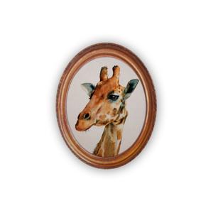 Oválný nástenný obraz Really Nice Things Giraffe
