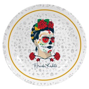 Nástenný dekoratívny keramický tanier Madre Selva Frida Sugar Skull