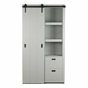 Sivá skriňa s posuvnými dvermi vtwonen Slide