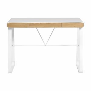 Biely pracovný stôl s 3 zásuvkami Marckeric Astrid