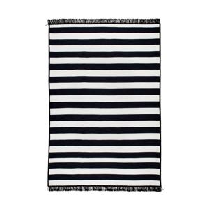 Čierno-biely obojstranný koberec Sentinus, 140×215 cm