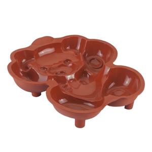 Silikónová forma na koláč v tvare medvedíka Metaltex, 24 × 28 cm