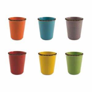 Súprava 6 keramických pohárov na vodu Villa d'Este Baita, 350 ml